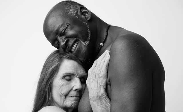 old naked interracial couple