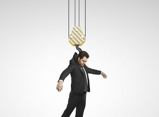 man on a hook