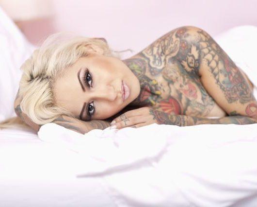 woman in tatoos