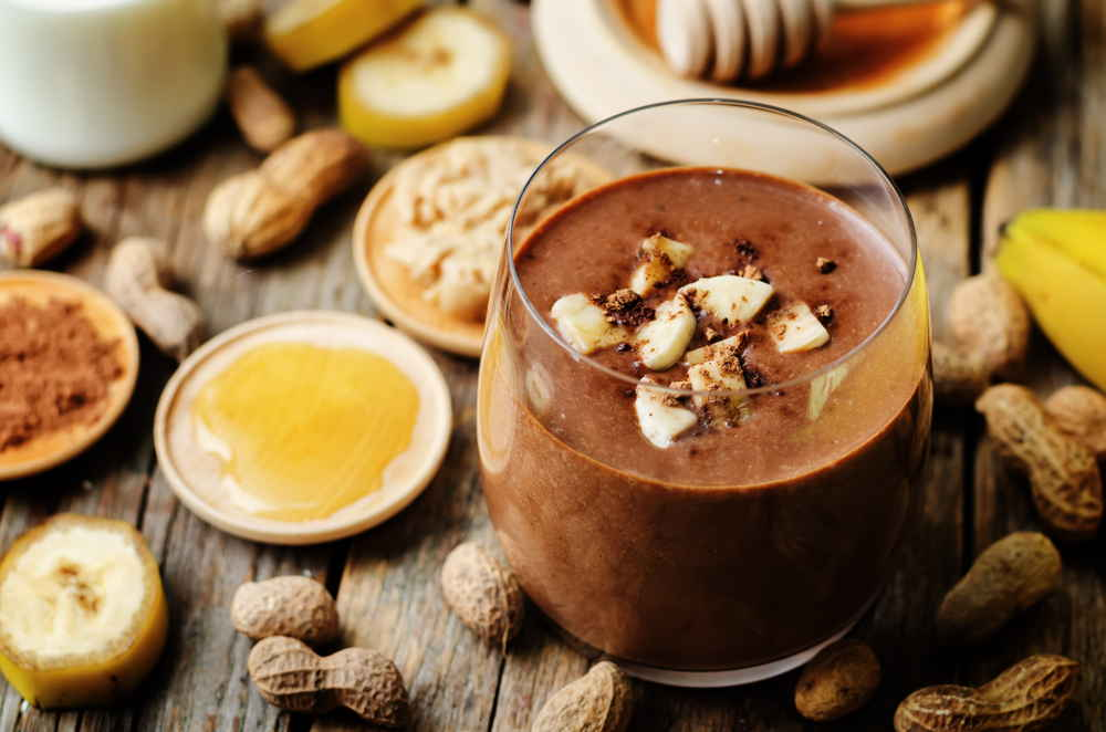 Vegan peanut butter smoothie