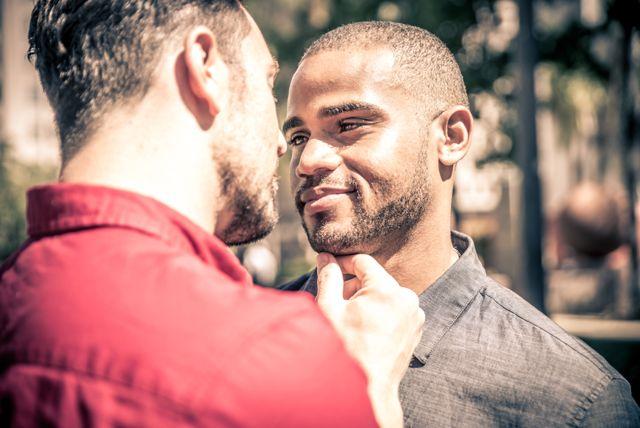 gay interracial couple