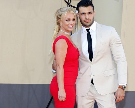 Sam Asghari and Britney Spears
